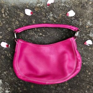 ANN TAYLOR pink leather small shoulder bag